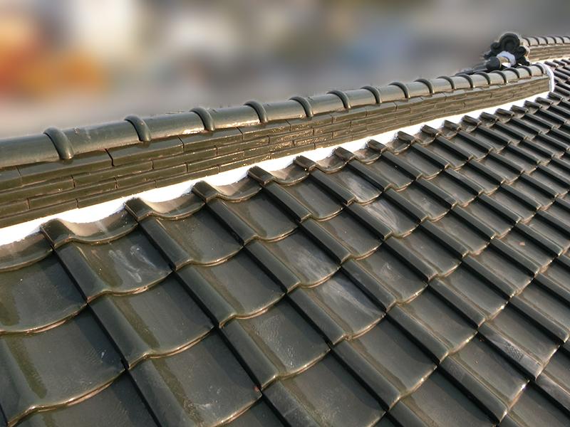 屋根漆喰工事アフター
